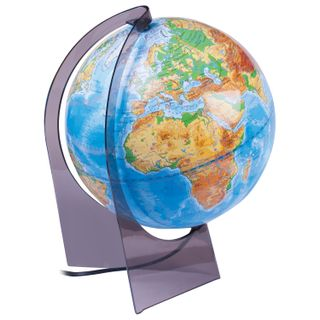 GLOBE WORLD / Physical globe, diameter 210 mm with backlight