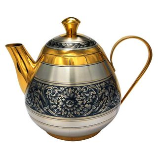 Silver teapot with gilding