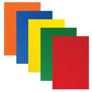 Colored felt for creativity A4 INLANDIA 5 BRIGHT COLORS, thickness 2 mm, with Euro slot