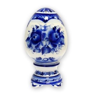 Egg gift small 2nd grade, Gzhel Porcelain factory