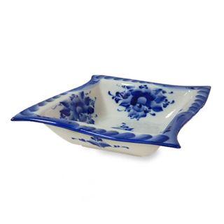 The Wave bowl small 1st grade, Gzhel Porcelain factory