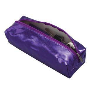 Pencil case-cosmetic bag BRAUBERG under faux leather, Vintage, purple, 20х6х4 cm