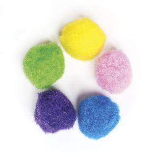 POM-poms for creativity, 5 flowers, 25 mm, 30 PCs., TREASURE ISLAND
