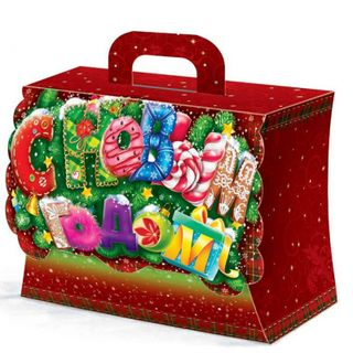 """New Year's gift Suitcase """"Happy New Year!"""", A set of sweets 450g."""