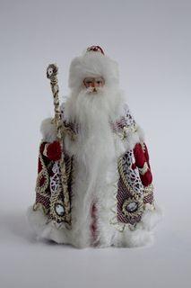 Porcelain souvenir doll. Santa Claus. Fairytale character.