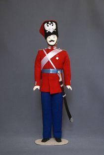 Doll gift. Cossack 1st guards Cossack regiment 1858. 19th century. Russia.