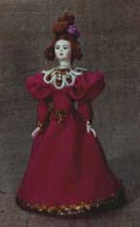 Doll gift porcelain. Provincial fashionista. Mid-19th - century Russia.
