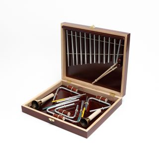 Комплект музыкальных инструментов «Звоны чудные» из 7-ми инструментов в деревянном кейсе