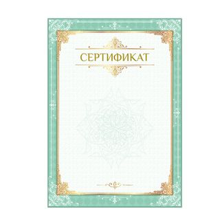 The certificate is A4 vertical form No. 1 coated paperboard, hot stamping, foil stamping, BRAUBERG