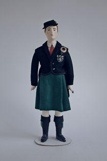 Doll gift. Men's dance costume 20th century. Ireland.