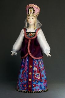 Doll gift porcelain. Russian beauty in birthday suit.