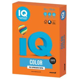 IQ COLOR / A4 paper, 80 g / m2, 100 sheets, intensive, orange