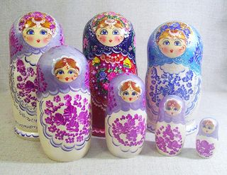 Matryoshka No. 3 Lada 5 dolls