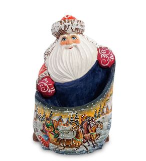 "Wooden figure ""Santa Claus with bag"" 18 cm"