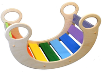 The rocking ladder is a colorful developing toy (handmade)