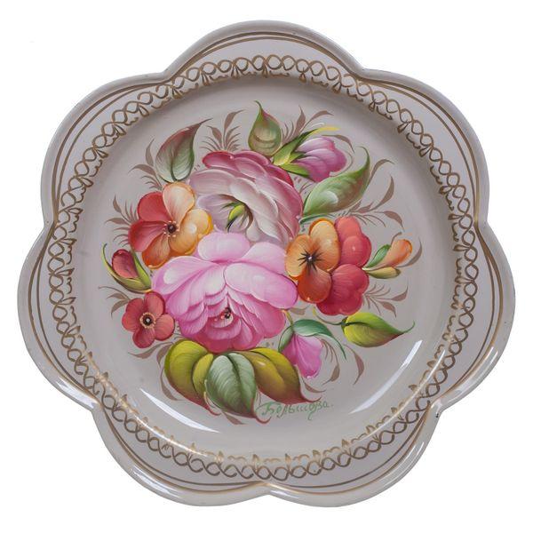 Zhostovo / Tray, by Bolshova N. 18 cm