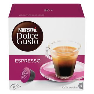 Capsules for NESCAFE Dolce Gusto Espresso coffee machines, natural coffee 16 pcs. x 6 g