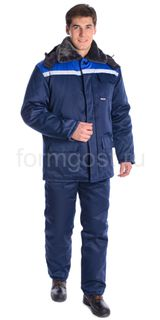 "Suit ""Work M"" with insulated pants, blue + cornflower"