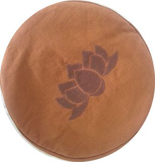Round pillow for meditation with filler
