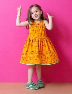 Dress for girls yellow