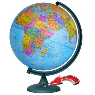 Political globe with a diameter of 320 mm with backlight battery powered (batteries not included)