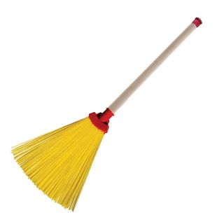LIMA / Synthetic fan broom EXPERT 29x26 cm, wooden handle 40 cm, Euro thread