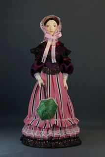 Doll gift porcelain. Miss summer dress. The 2nd half of the 19th century.France