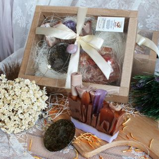 Gift set of handmade soap, Orange and spice