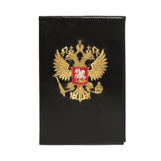 "Diary ""eagle"" in black with gold embroidery"