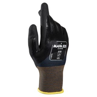 MAPA / Textile gloves Ultrane 525, nitrile coating (doused), oil resistant, size 9 (L), black