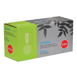 Toner cartridge CACTUS (CS-TK580C) for KYOCERA FS-C5150DN / P6021CDN, cyan, yield 2800 pages.