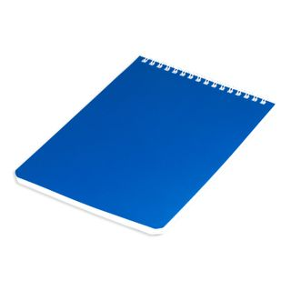 Notebook A5 (146 x205 mm) 60 sheets, comb, perforation on breakaway, lacquered, BRAUBERG, Blue