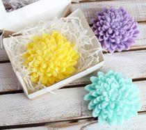 Handmade soap Chrysanthemum - mix colors