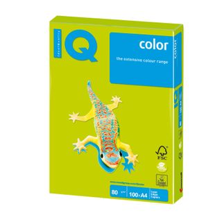 IQ COLOR / A4 paper, 80 g / m2, 100 sheets, neon, green
