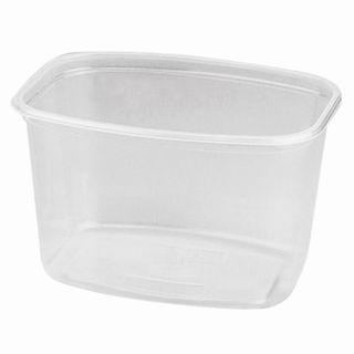 STIROLPLAST / Disposable containers 750 ml, SET of 50 pcs., WITHOUT LIDS, 139х102х90 mm, PP, transparent (cover 605085)