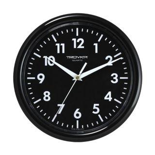 Wall clock TROYKA 21200204, circle, black, black frame, 24,5х24,5x3,1 cm
