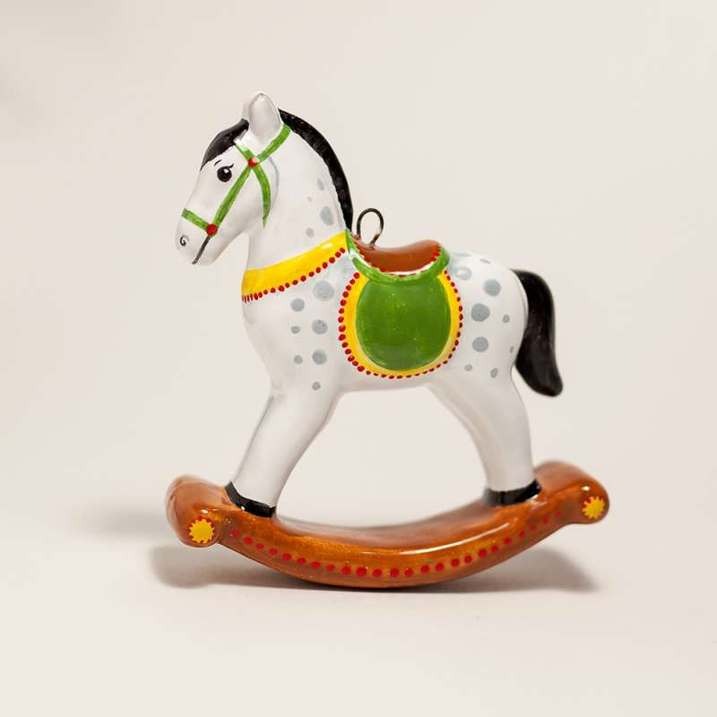 "Yaroslavl majolica / Pendant ""Rocking horse"""