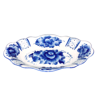 Tray Grand average 2nd grade, Gzhel Porcelain factory