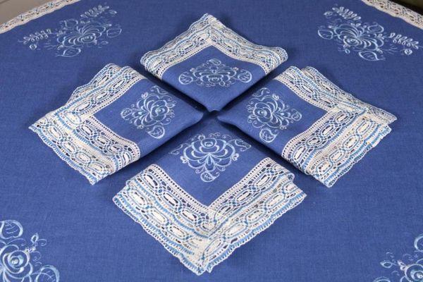 Napkin 'Gzhel' embroidery