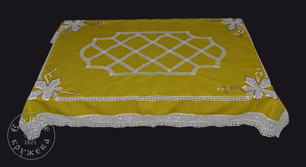 Yelets lace / Linen tablecloth С2023А