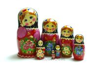 Rossijanochka - booklet matryoshka, 7 dolls - booklet number 12