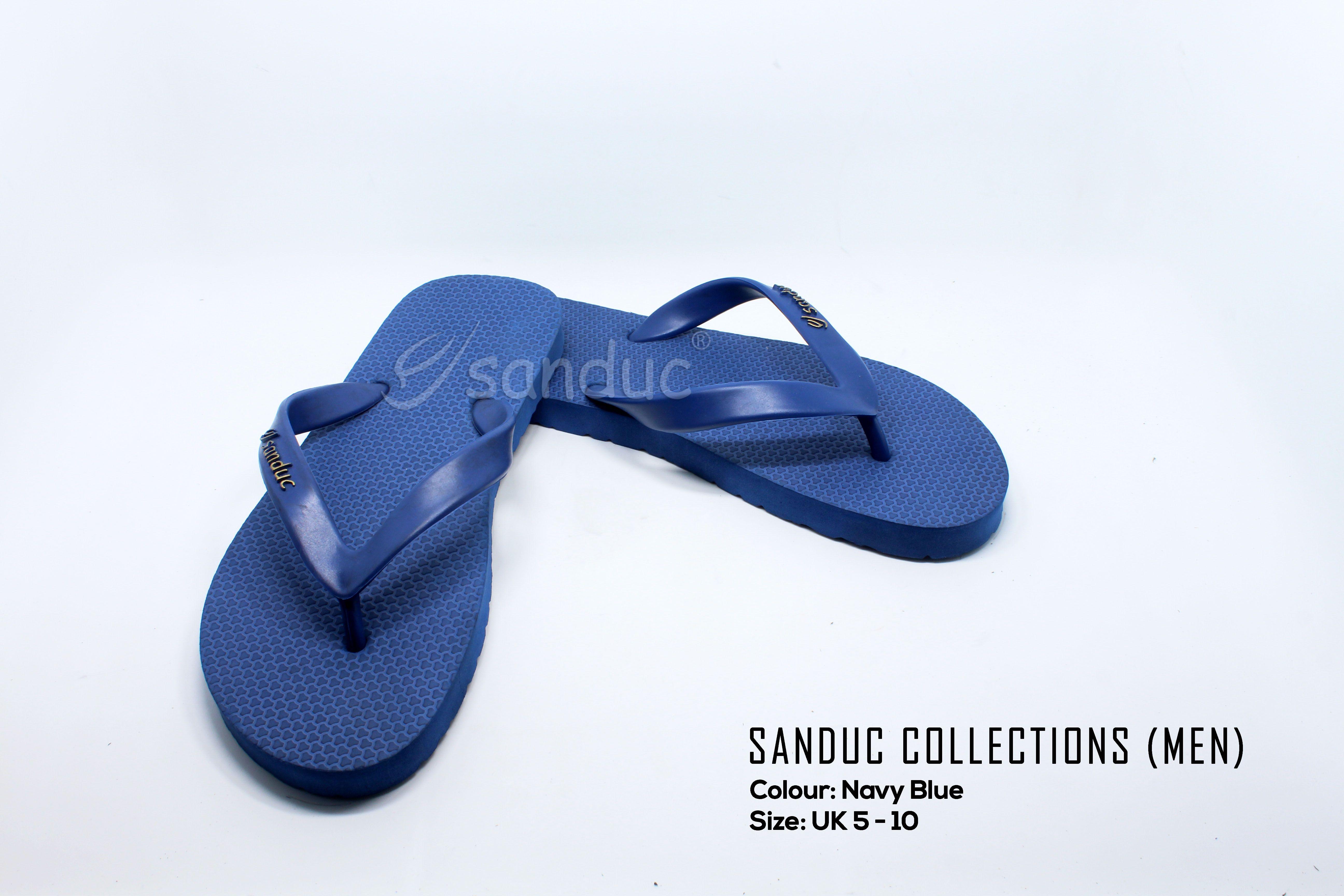Sanduc Casual Men Flip Flops Slipper Sandal (Navy)