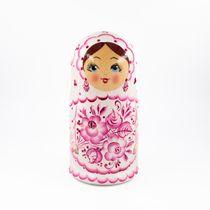 Russian woman - Russian doll booklet, 7 dolls - Gzhel
