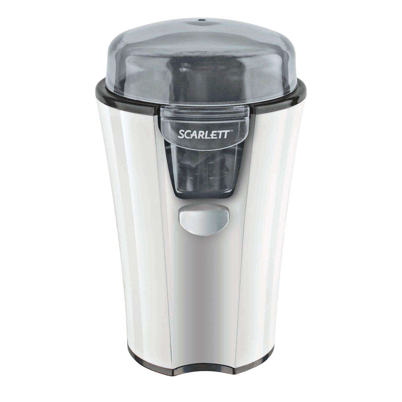 SCARLETT SC-010 coffee grinder, 180 watt capacity, 40g capacity, plastic, white