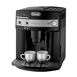 DELONGHI ESAM3000 coffee machine. B, 1350 w, 1.8 litres, 200g grain container, hand capuchinator, black