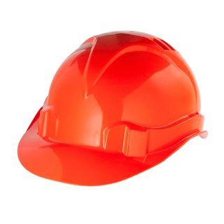 SIBRETECH / Safety helmet made of impact-resistant plastic, size 52-66, orange