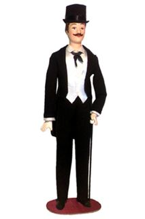 Doll gift. Men's evening suit-called the 20th century. Paris, France.