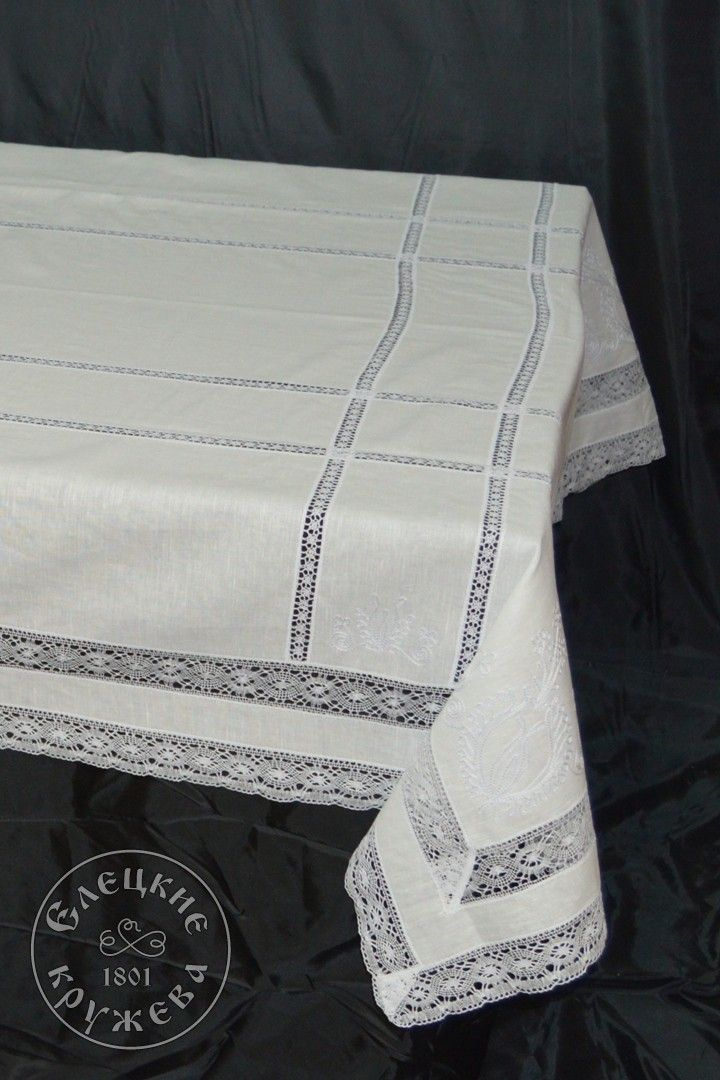 "Yelets lace / Table set ""Tablecloth and napkins"" С537"