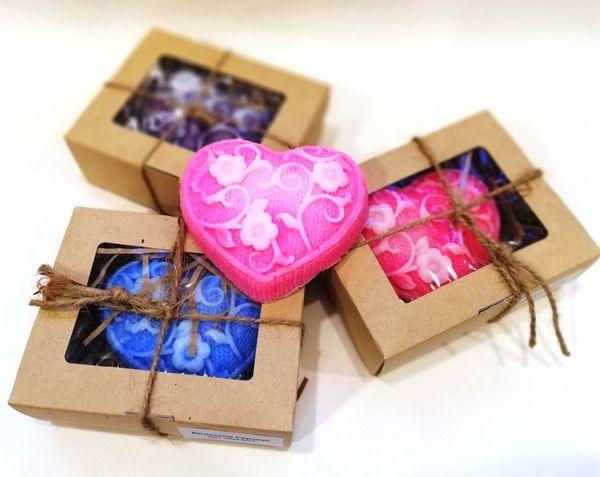 Handmade soap Big Heart - mix of colors