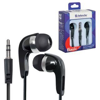 DEFENDER / Headphones Basic 610, wired, 1.1 m, stereo, in-ear, black